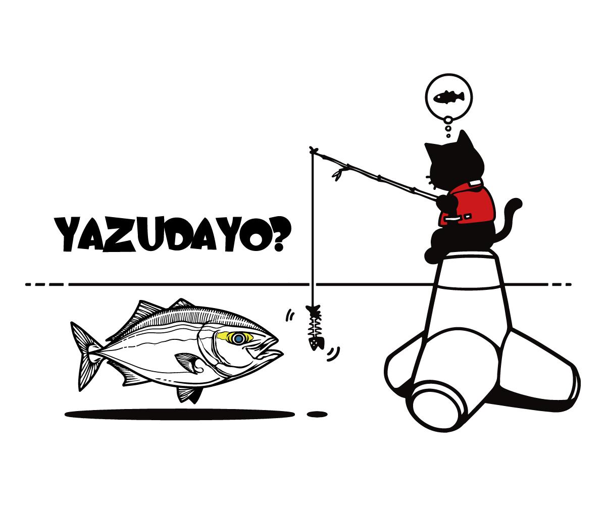 cat&yazu黒線